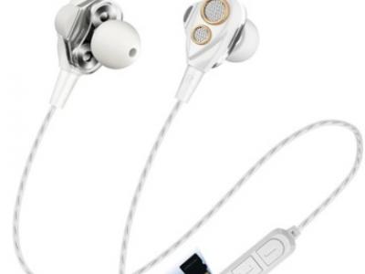 新款SMN-15双动圈运动蓝牙耳机 磁吸重低音四喇叭 带插卡蓝牙耳机
