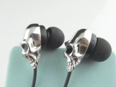 外贸爆品厂家直销骷髅头金属入耳式耳机MP3耳机优势产品