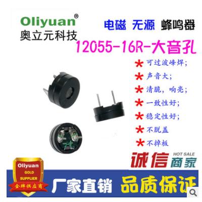 12055蜂鸣器,16欧5V,超薄无源分体,短针,声音大,厂家直销